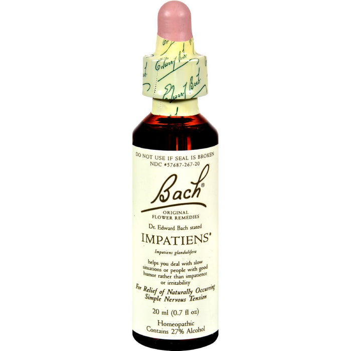Bach Flower Remedies Essence Impatiens - 0.7 Fl Oz - Kkdu Market