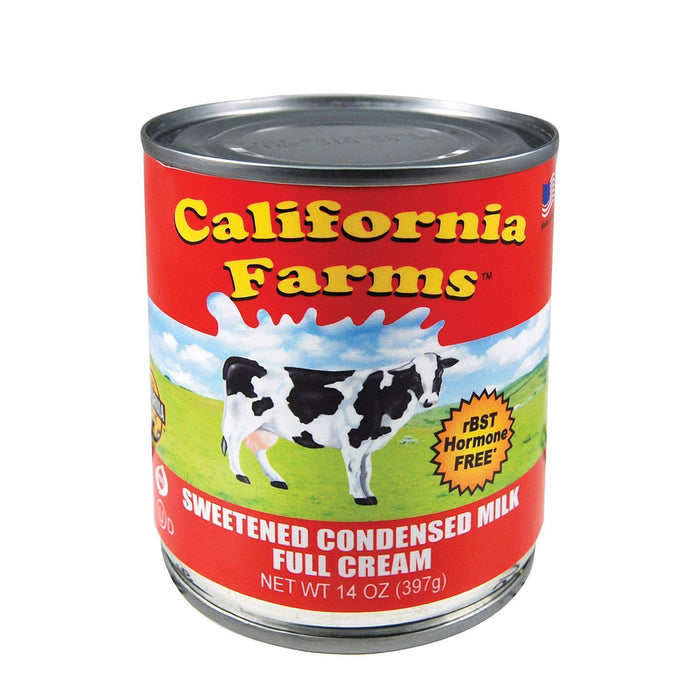 California Farms Sweetened Condensed Milk - Pack Of 24 - 14 Fl Oz. - Kkdu Market