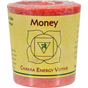 Aloha Bay Chakra Votive Candle - Money - Pack Of 12 - 2 Oz - Kkdu Market