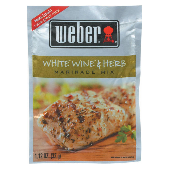 Weber Grill Creations Marinade - White Wine & Herb - Pack Of 12 - 1.12 Oz - Kkdu Market