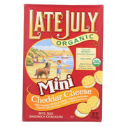 Late July Snacks Organic Mini Sandwich Crackers -cheese - 5 Oz