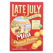 Late July Snacks Organic Mini Crackers - Peanut Butter - 5 Oz.