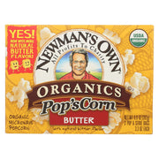Newman's Own Organics Microwave Popcorn - Butter Boom - 3.3 Oz.