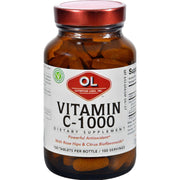 Olympian Labs Vitamin C - 1000 Mg - Plus Rose Hips And Citrus Bioflavanoids - 100 Tablets - Kkdu Market