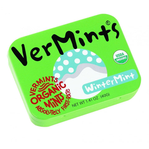 Vermints Breath Mints - All Natural - Wintermint - 1.41 Oz - Pack Of 6 - Kkdu Market