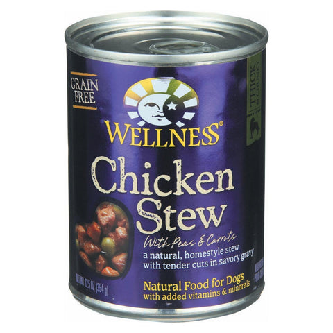 Wellness Pet Products Dog Food - Chicken With Peas And Carrots - Pack Of 12 - 12.5 Oz. - Kkdu Market