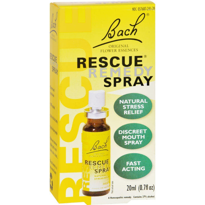 Bach Flower Remedies Essences Rescue Remedy Spray Original Flower - 0.7 Fl Oz - Kkdu Market