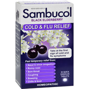 Sambucol Black Elderberry Cold And Flu Relief - 30 Lozenges - Kkdu Market