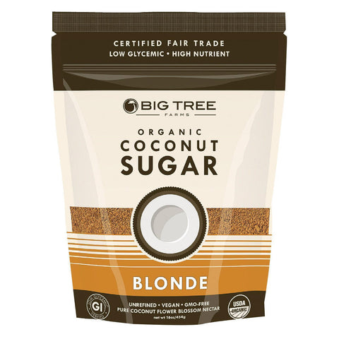Big Tree Farms Coconut Palm Sugar - Blonde - Pack Of 6 - 16 Oz. - Kkdu Market