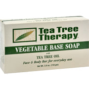 Tea Tree Therapy Vegetable Base Soap With Tea Tree Oil - 3.9 Oz - Kkdu Market