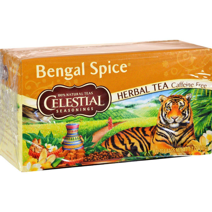 Celestial Seasonings Herbal Tea - Bengal Spice - Caffeine Free - 20 Bags - Kkdu Market