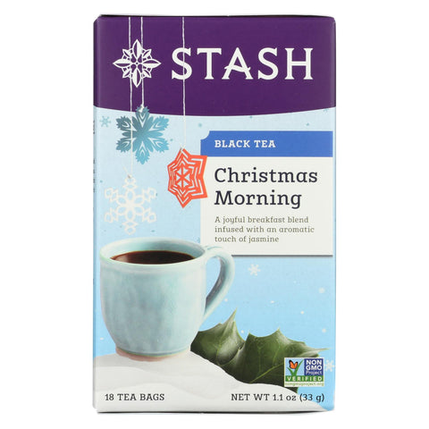 Stash Tea X-mas Morning Holiday Tea - Pack Of 6 - 18 Count - Kkdu Market