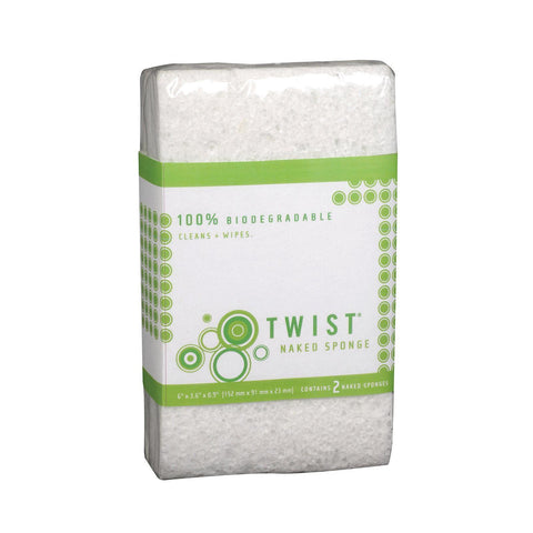 Twist Naked Sponge - Medium - Pack Of 6 - 2 Count - Kkdu Market