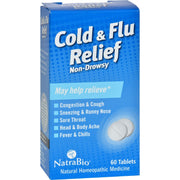 Natrabio Cold And Flu Relief Non-drowsy - 60 Tablets - Kkdu Market