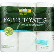 Field Day Paper Towel - 100 Percent Recycled - 60 Sheets Each - 3 Rolls - Pack Of 10 - Kkdu Market