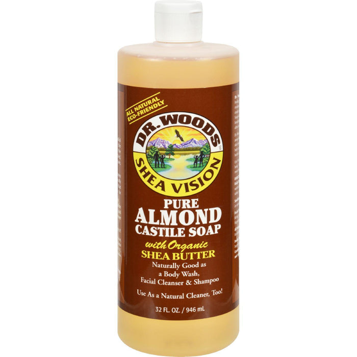 Dr. Woods Shea Vision Pure Castile Soap With Organic Shea Butter Almond - 32 Fl Oz - Kkdu Market