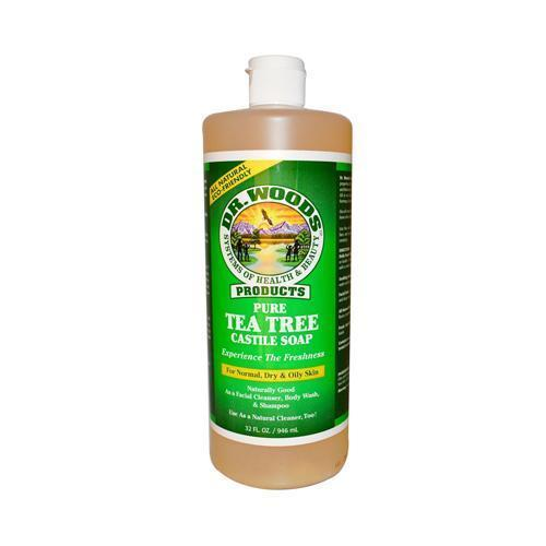 Dr. Woods Pure Castile Soap Tea Tree - 32 Fl Oz - Kkdu Market