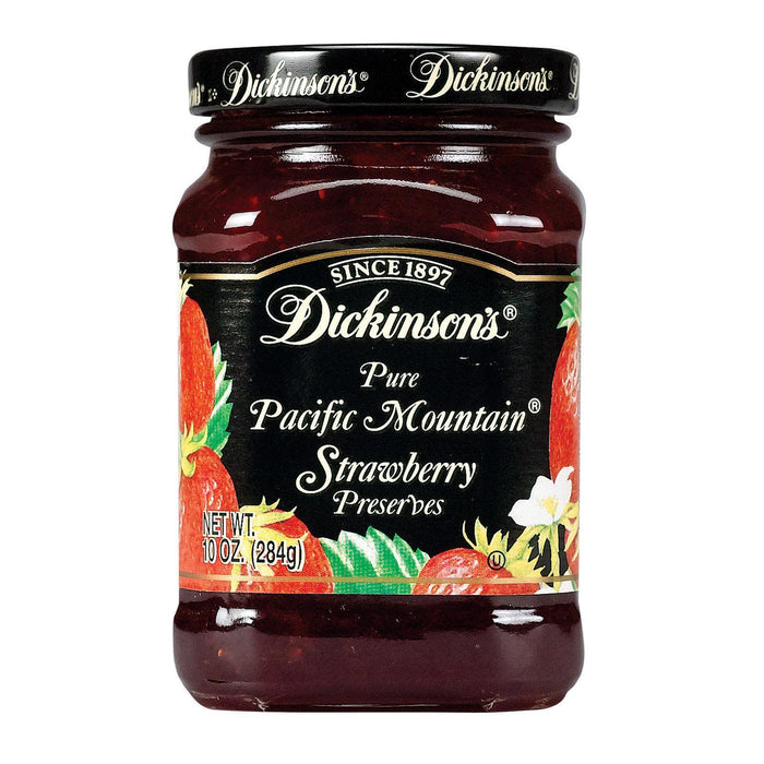 Dickinson Pure Pacific Mountain Strawberry Preserves - Pack Of 6 - 10 Oz. - Kkdu Market