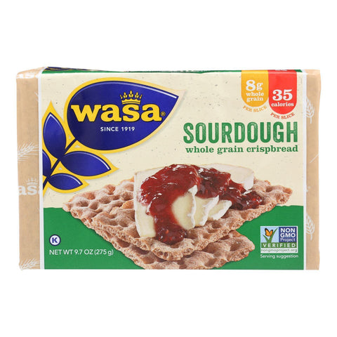 Wasa Crispbread Rye Crispbread - Sourdough - Pack Of 12 - 9.7 Oz. - Kkdu Market