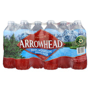Arrowhead Spring Water - 100 Percent Mountain Spring Water - Case Of 1- 24-.5 Liter - Kkdu Market
