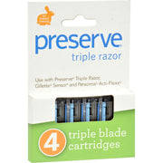 Preserve Triple Blade Refills - Pack Of 6 - 4 Packs - Kkdu Market