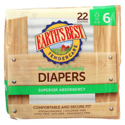 Earth's Best Chlorine-free Diapers - Size 6 - Pack Of 4 - 22 Count - Kkdu Market