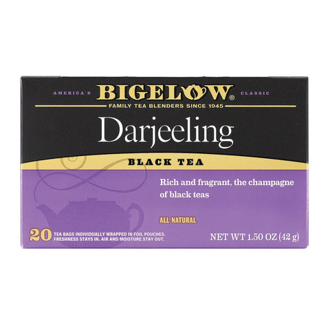 Bigelow Tea Darjeeling Black Tea - Pack Of 6 - 20 Bags - Kkdu Market