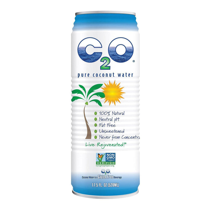 C2o Pure Coconut Water Pure Coconut Water - Pack Of 12 - 17.5 Fl Oz - Kkdu Market