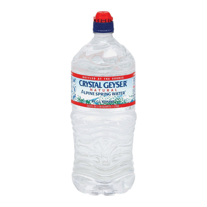 Crystal Geyser Alpine Spring Water - Pack Of 15 - 33.8 Fl Oz. - Kkdu Market
