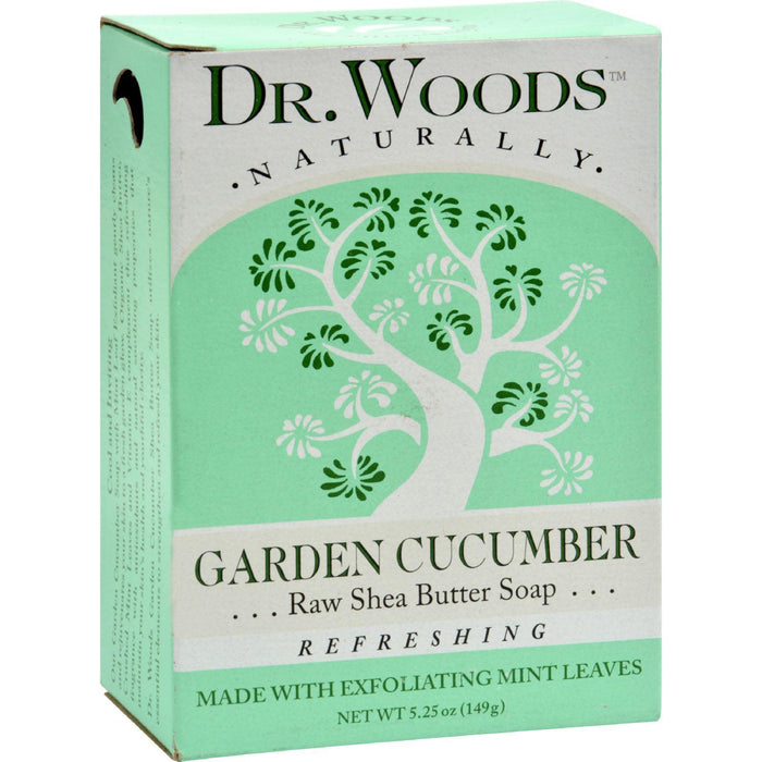 Dr. Woods Bar Soap Garden Cucumber - 5.25 Oz - Kkdu Market