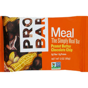 Probar Organic Peanut Butter Chocolate Chip Bar - Pack Of 12 - 3 Oz - Kkdu Market