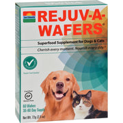 Sun Chlorella Rejuv-a-wafers Superfood Supplement For Dogs And Cats - 60 Wafers - Kkdu Market
