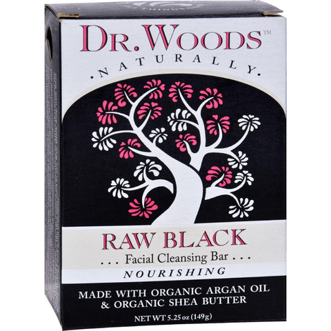 Dr. Woods Face Cleansing Bar - Raw Black - 5.25 Oz - Kkdu Market