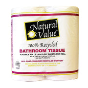 Natural Value Recycled Bathroom Tissue - Pack Of 12 - Kkdu Market