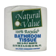 Natural Value Sustainable Bath Tissue - Pack Of 48 - Kkdu Market