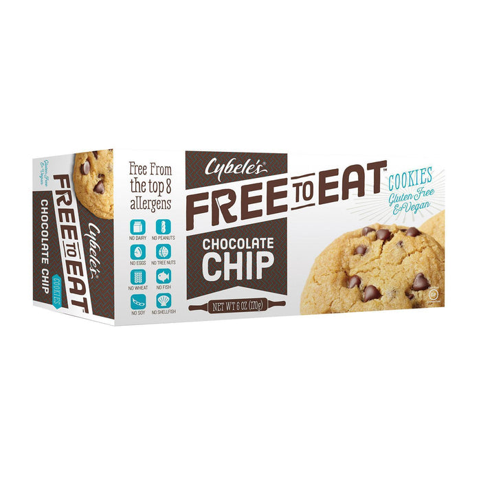 Cybel's Free To Eat Chocolate Chip Cookies - Pack Of 6 - 6 Oz. - Kkdu Market