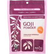Navitas Naturals Goji Berry Powder - Organic - Freeze-dried - 8 Oz - Pack Of 12 - Kkdu Market