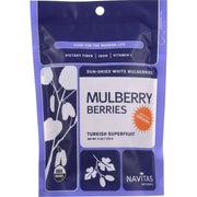 Navitas Naturals Mulberry Berries - Organic - Sun-dried - 4 Oz - Pack Of 12 - Kkdu Market