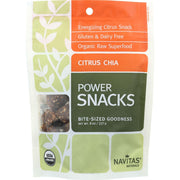 Navitas Naturals Snacks - Organic - Power - Citrus Chia - Gluten Free - 8 Oz - Pack Of 12 - Kkdu Market