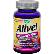 Nature's Way Alive - Women's 50+ Gummy Multi-vitamins - 75 Chewables - Kkdu Market