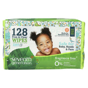 Seventh Generation Baby Wipes - Free And Clear - Refll - 128 Count - Kkdu Market