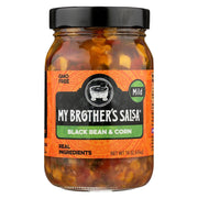 My Brother's Salsa Salsa - Black Bean & Corn - Mild - Pack Of 6 - 16 Oz - Kkdu Market