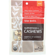 Navitas Naturals Cashews - Organic - Superfood Plus - Goji Basil - 4 Oz - Pack Of 12 - Kkdu Market
