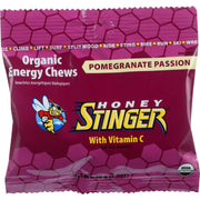 Honey Stinger Energy Chew - Organic - Pomegranate Passion Fruit - 1.8 Oz - Pack Of 12 - Kkdu Market