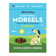 Buckley Dog Morsels - Functional Chicken - Case Of 8 - 6 Oz