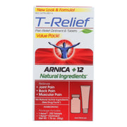 T-relief Pain Relief Ointment And Tablets - Arnica Plus 12 Natural Ingredients - Value Pack - 1 Pack - Kkdu Market