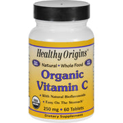 Healthy Origins Vitamin C - Organic - 250 Mg - 60 Tablets - Kkdu Market