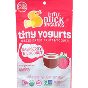 Little Duck Organics Freeze Dried Fruit And Yogurt - Tiny Yogurts - Organic - Raspberry And Coconut - Ages 1 Year Plus - .75 Oz - Pack Of 6 - Kkdu Market