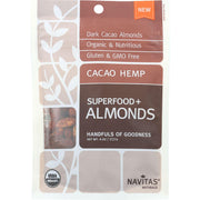 Navitas Naturals Almonds - Organic - Superfood Plus - Cacao Hemp - 4 Oz - Pack Of 12 - Kkdu Market