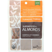 Navitas Naturals Almonds - Organic - Superfood Plus - Turmeric Tamari - 4 Oz - Pack Of 12 - Kkdu Market